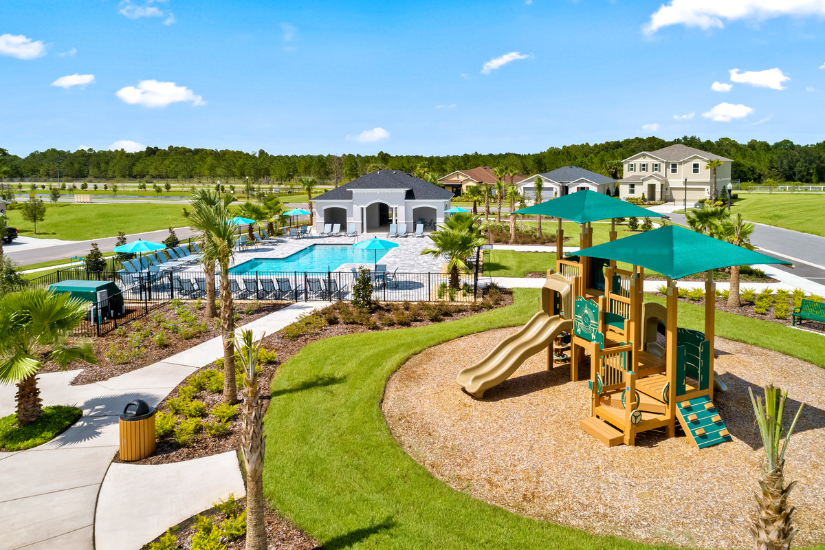 New Homes in Davenport, FL - Tivoli Reserve Community amenity including Pool, Cabana, Tot Lot & Open Space