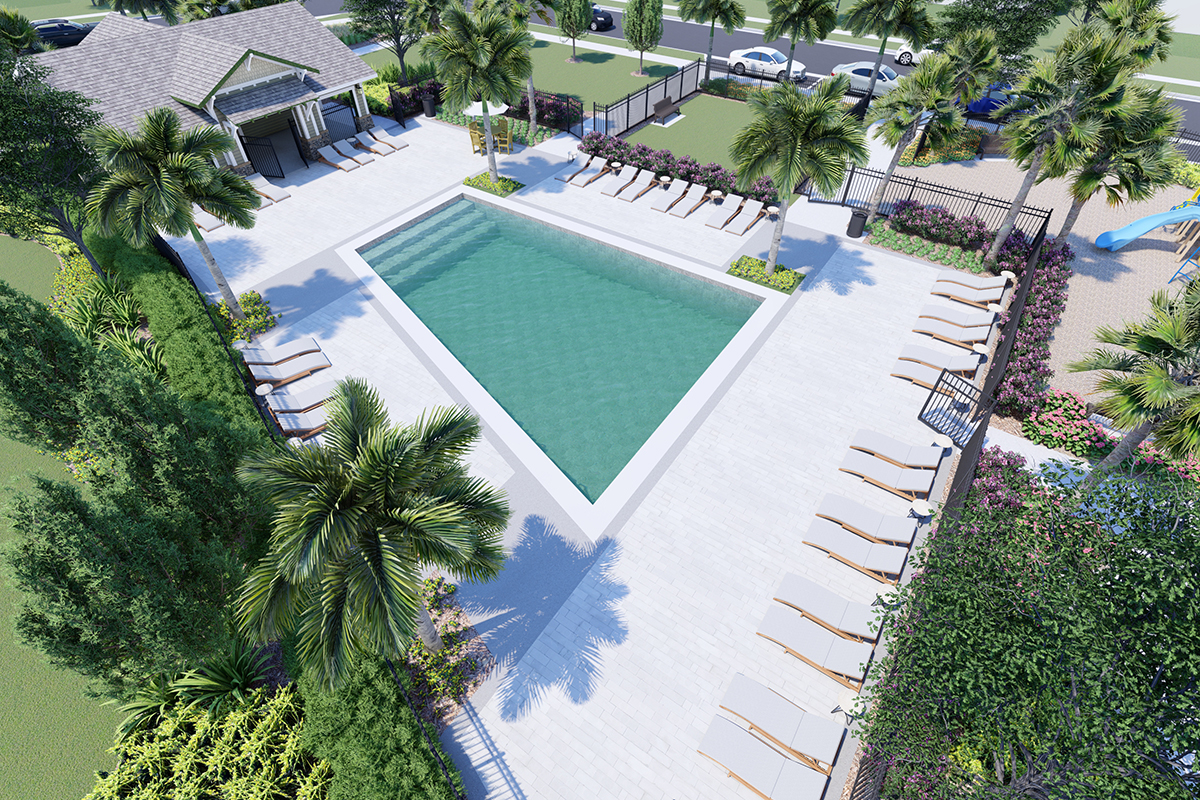 New Homes in Davenport, FL - Tivoli Reserve Planned community amenity to include, Pool, Cabana, Tot Lot & Open Space