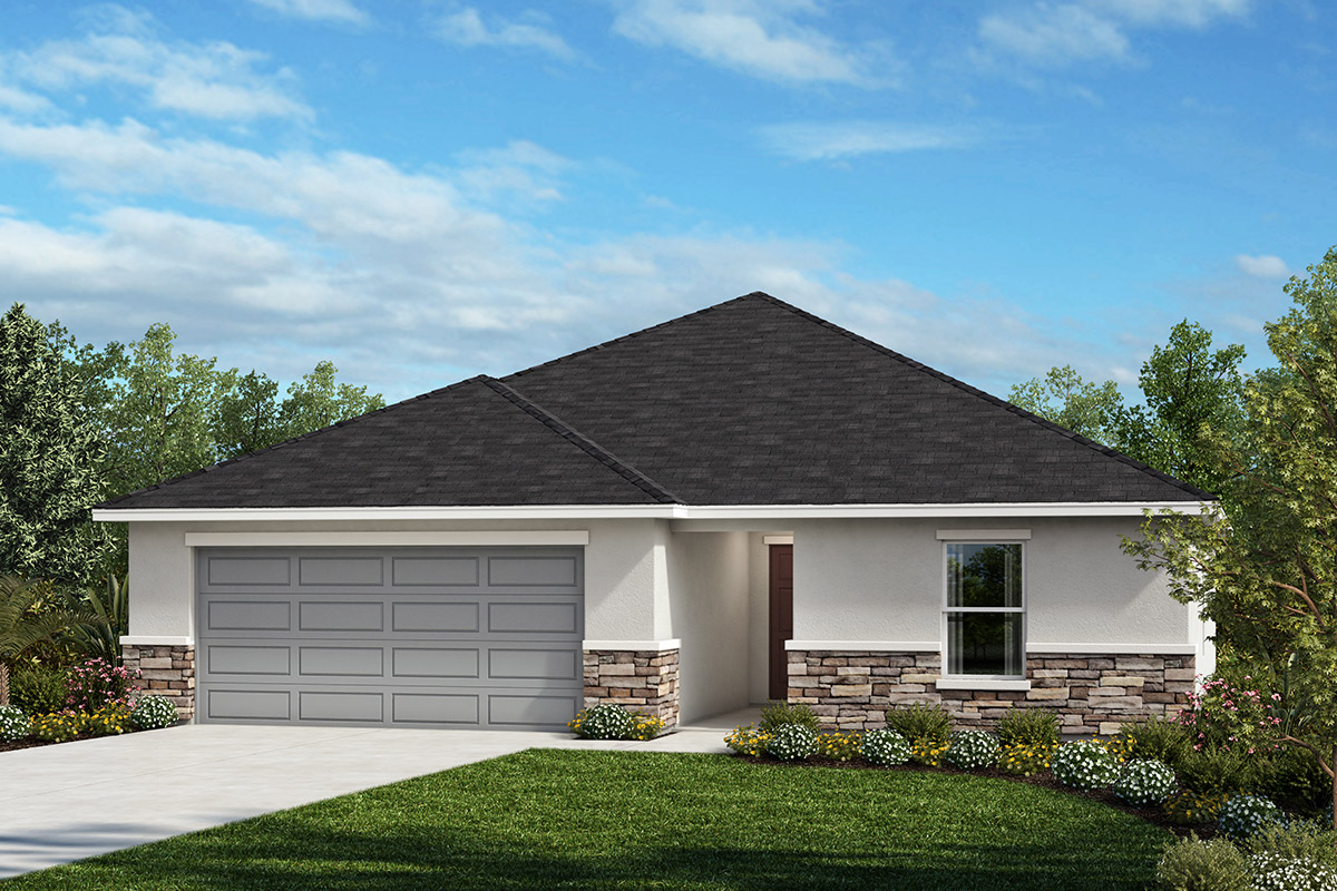 New Homes in Titusville, FL - Elevation A with optional stone