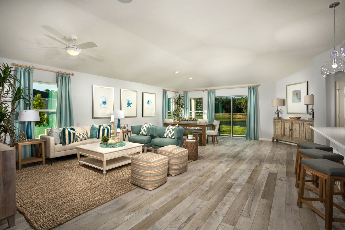 New Homes in Titusville, FL - Verona Plan 1989 Great Room