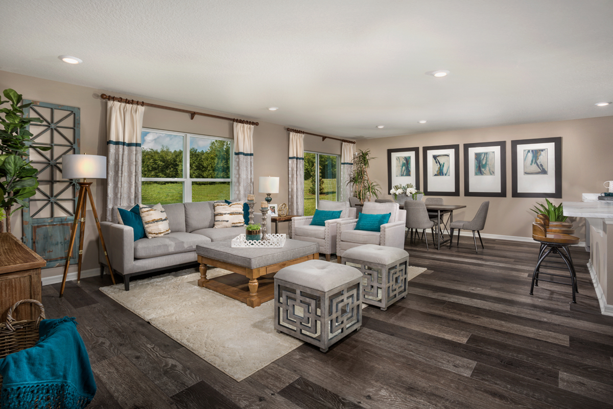 New Homes in Groveland, FL - Wilson Estates 1707 Great Room