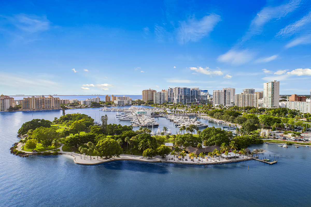 New Homes in Sarasota, FL - Grady Pointe Bayfront Park Aerial
