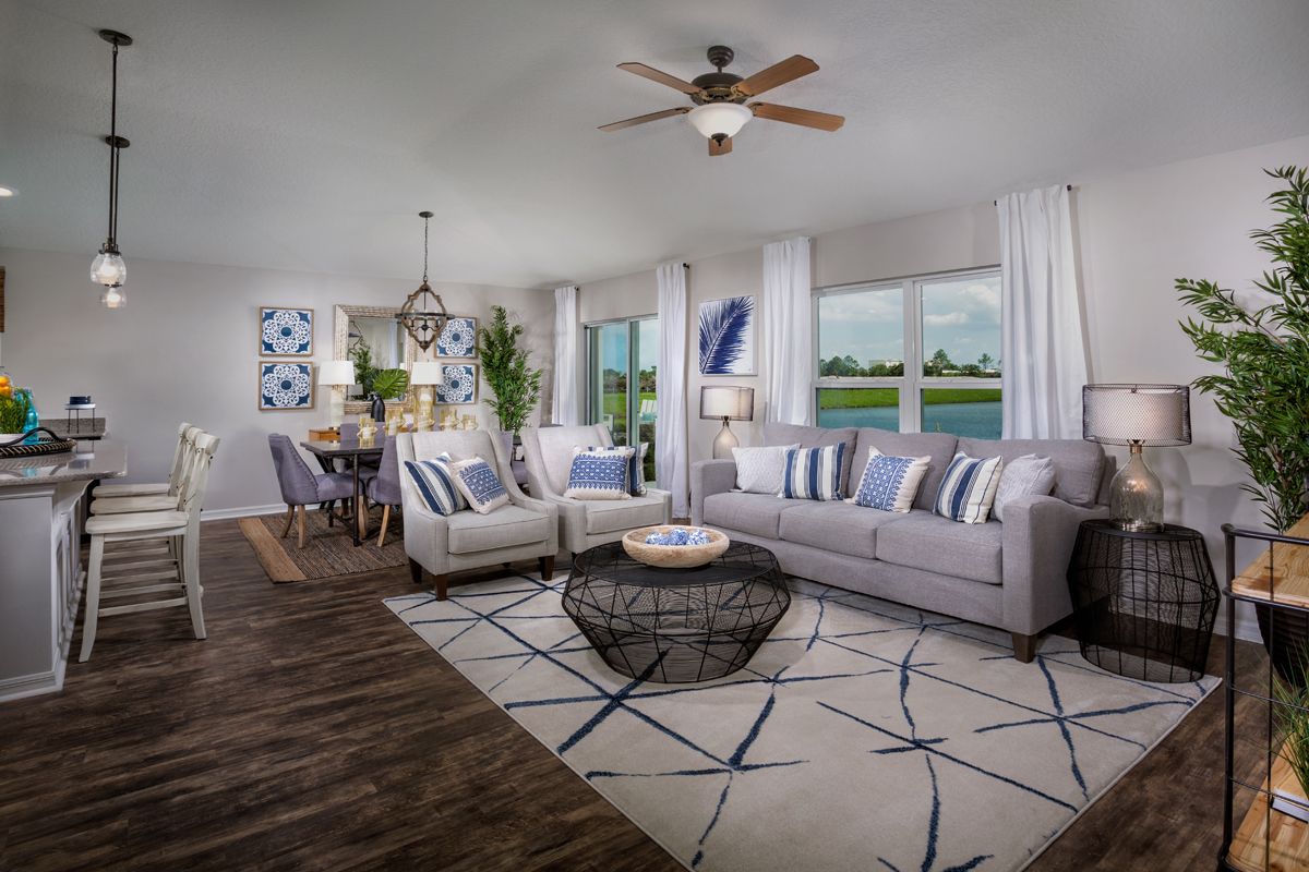 New Homes in West Melbourne, FL - Cypress Landings The Avondale Great Room