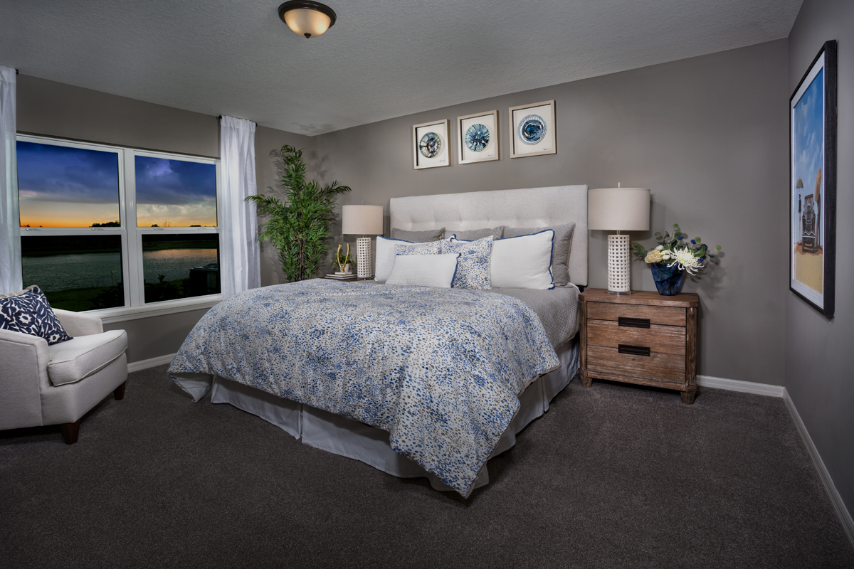 New Homes in West Melbourne, FL - Cypress Landings The Avondale Master Suite