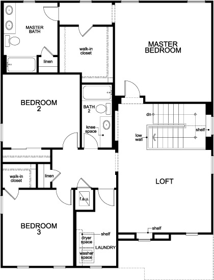 New Homes in Port St. Lucie, FL - Plan 2506, Second Floor