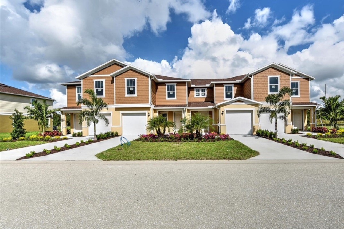 New Homes in North Fort Myers, FL - Bayshore Commons 4-Plex Scheme 2