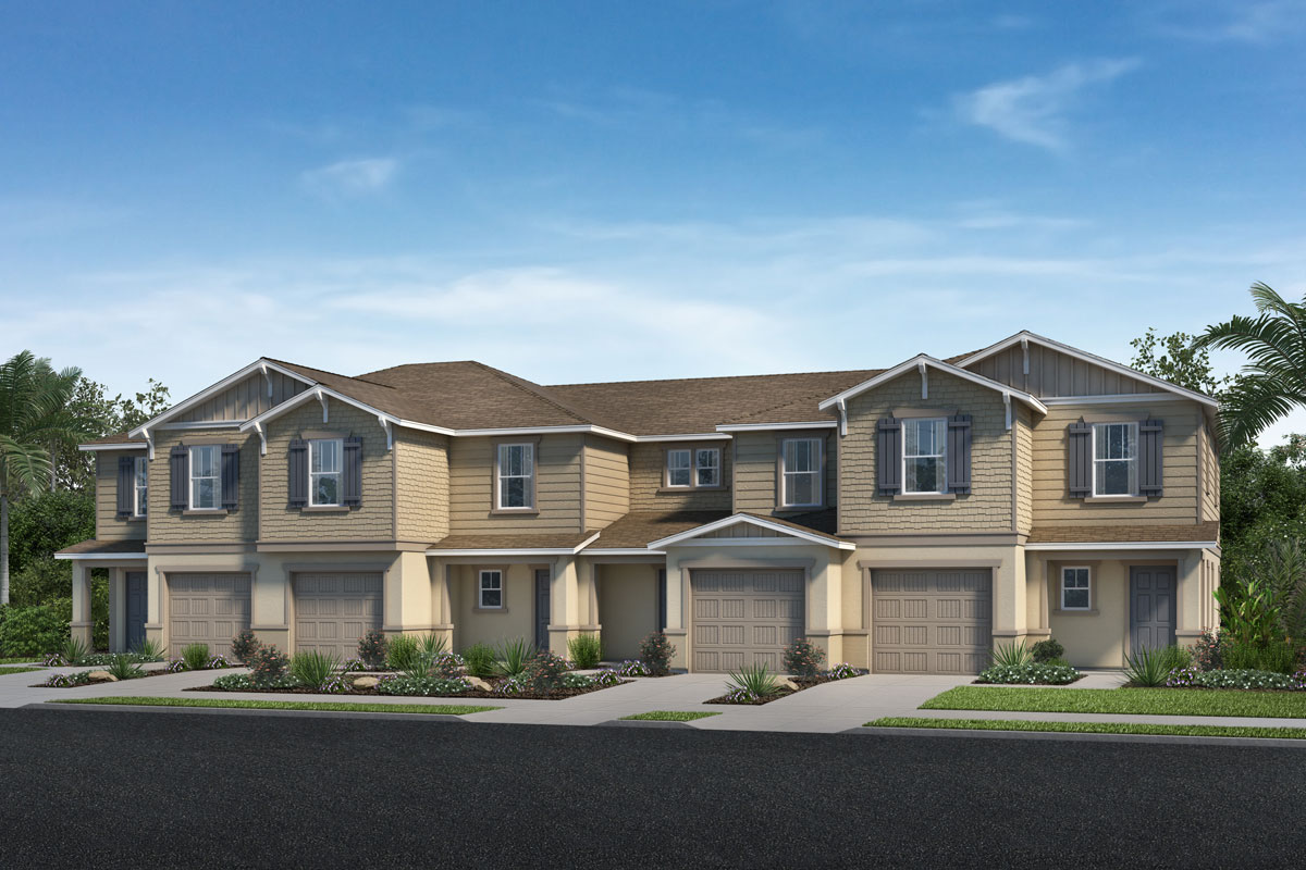 New Homes in North Fort Myers, FL - Plan 1502 - 4-Plex Street View