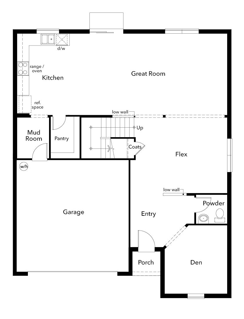 New Homes in Seffner, FL - Plan 3016, First Floor