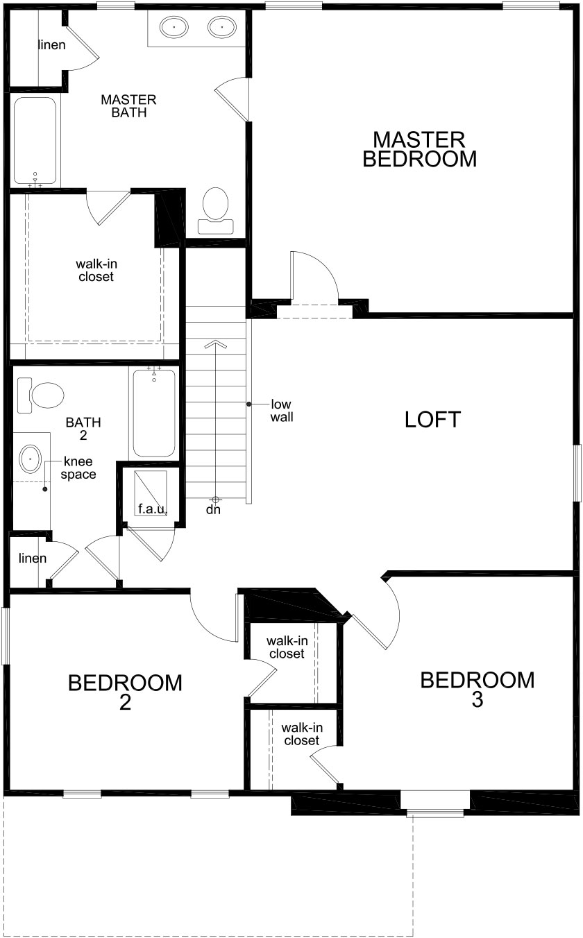 New Homes in Palmetto, FL - Plan 2107, Second Floor