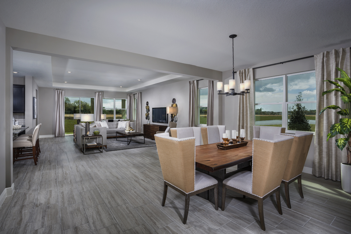New Homes in Bradenton, FL - Avaunce Plan 2333 Dining & Great Room