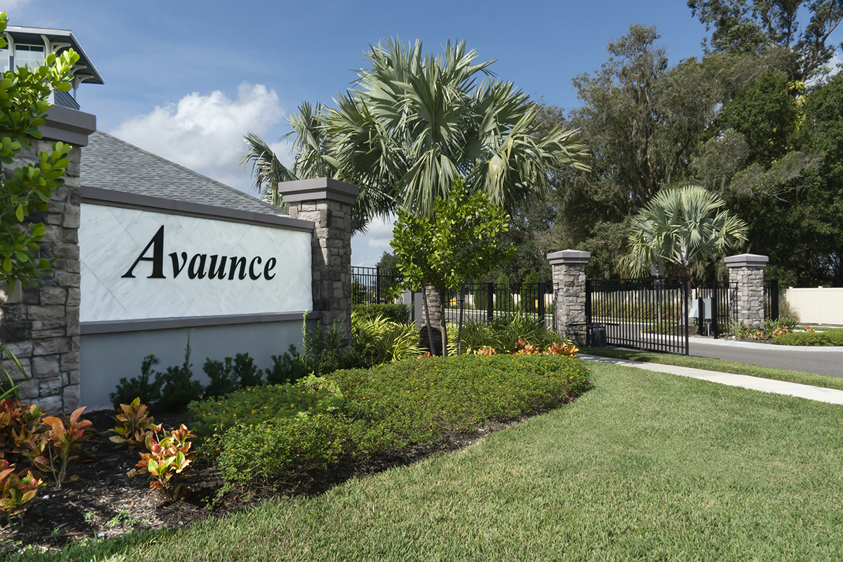 New Homes in Bradenton, FL - Avaunce Entry Monument