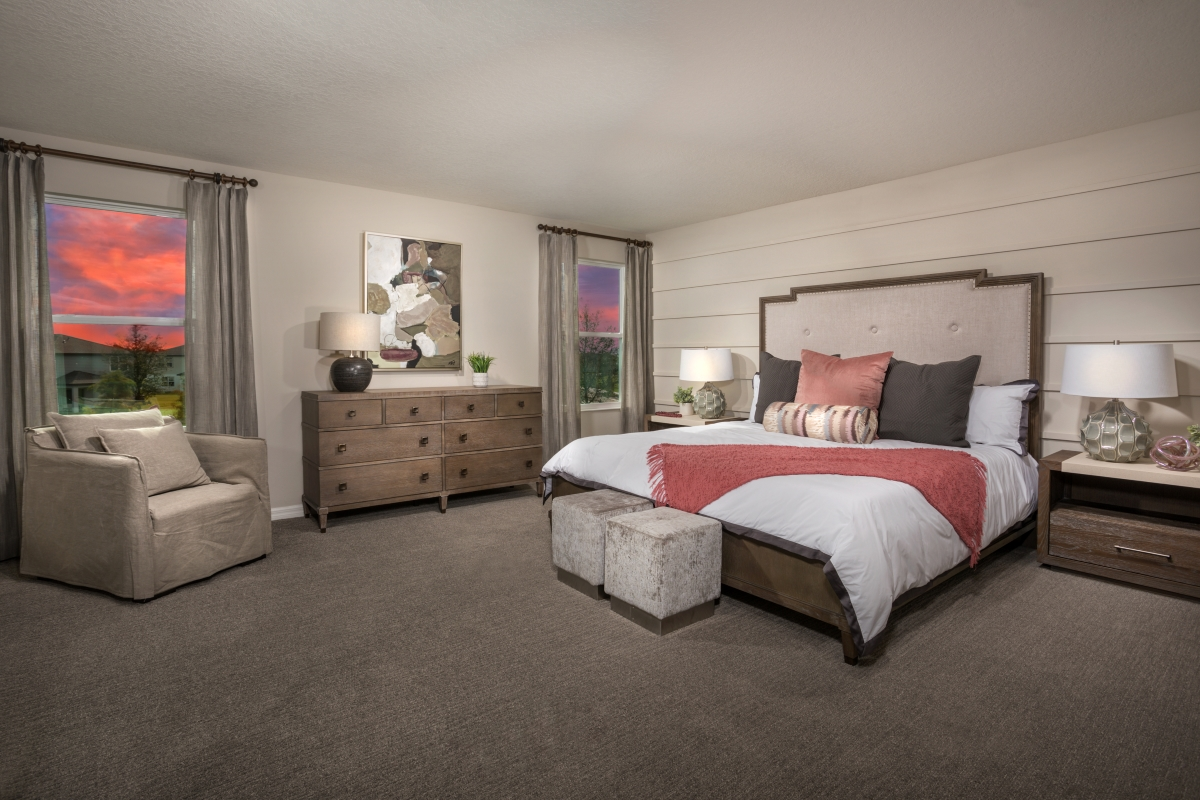 New Homes in Parrish, FL - Brightwood at North River Ranch Plan 2107 Master Bedroom