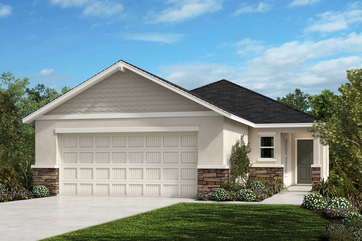 New Homes in Parrish, FL - Elevation H w Stone