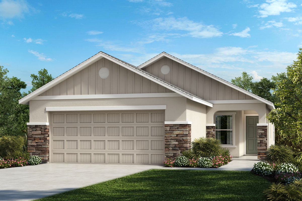 New Homes in Parrish, FL - 1637 Exterior Elevation G w Stone