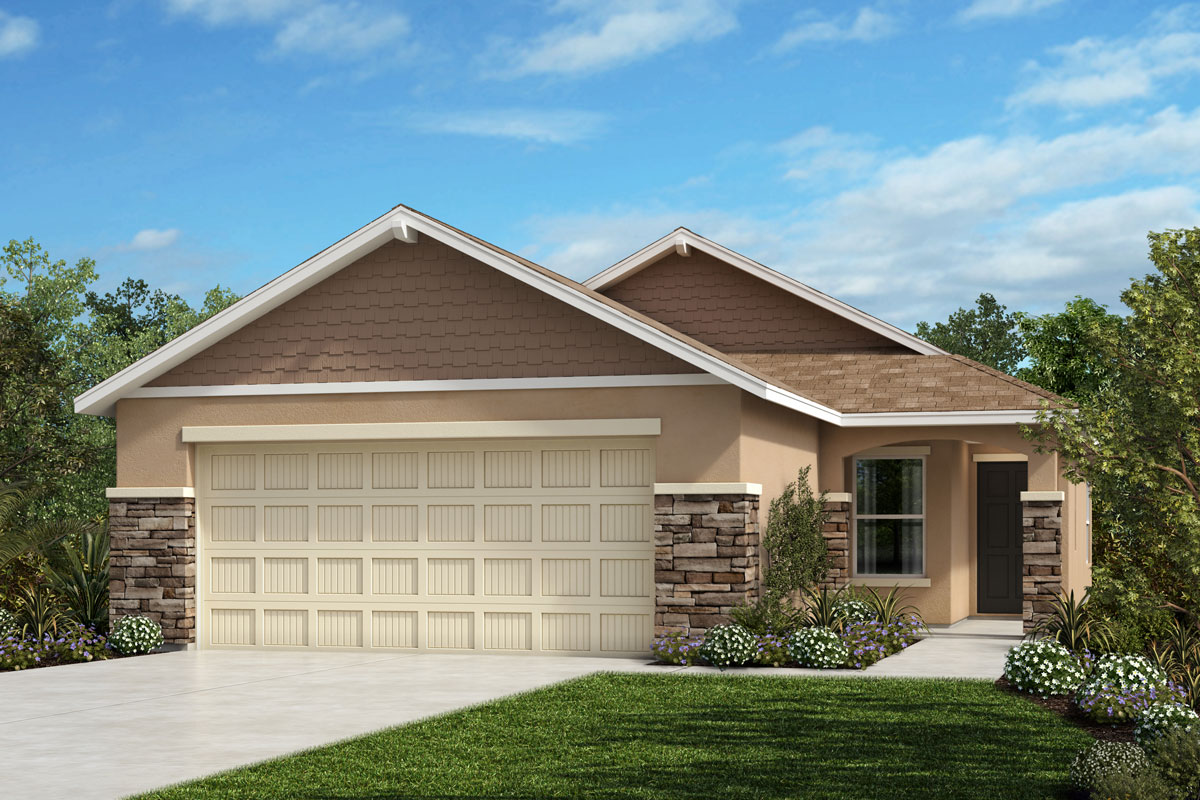 New Homes in Parrish, FL - 1637 Exterior Elevation H w Stone