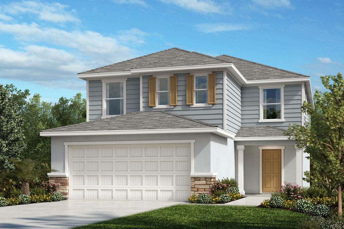 New Homes in Parrish, FL - Plan 2385 Elevation E w Stone