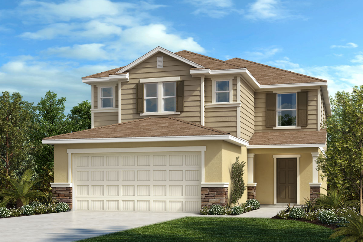 New Homes in Parrish, FL - Plan 2385 Elevation F w Stone