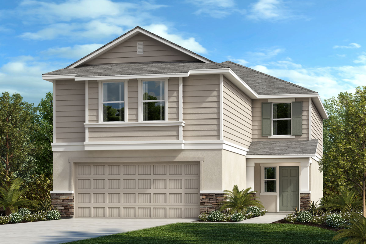 New Homes in Parrish, FL - Elevation F with Stone