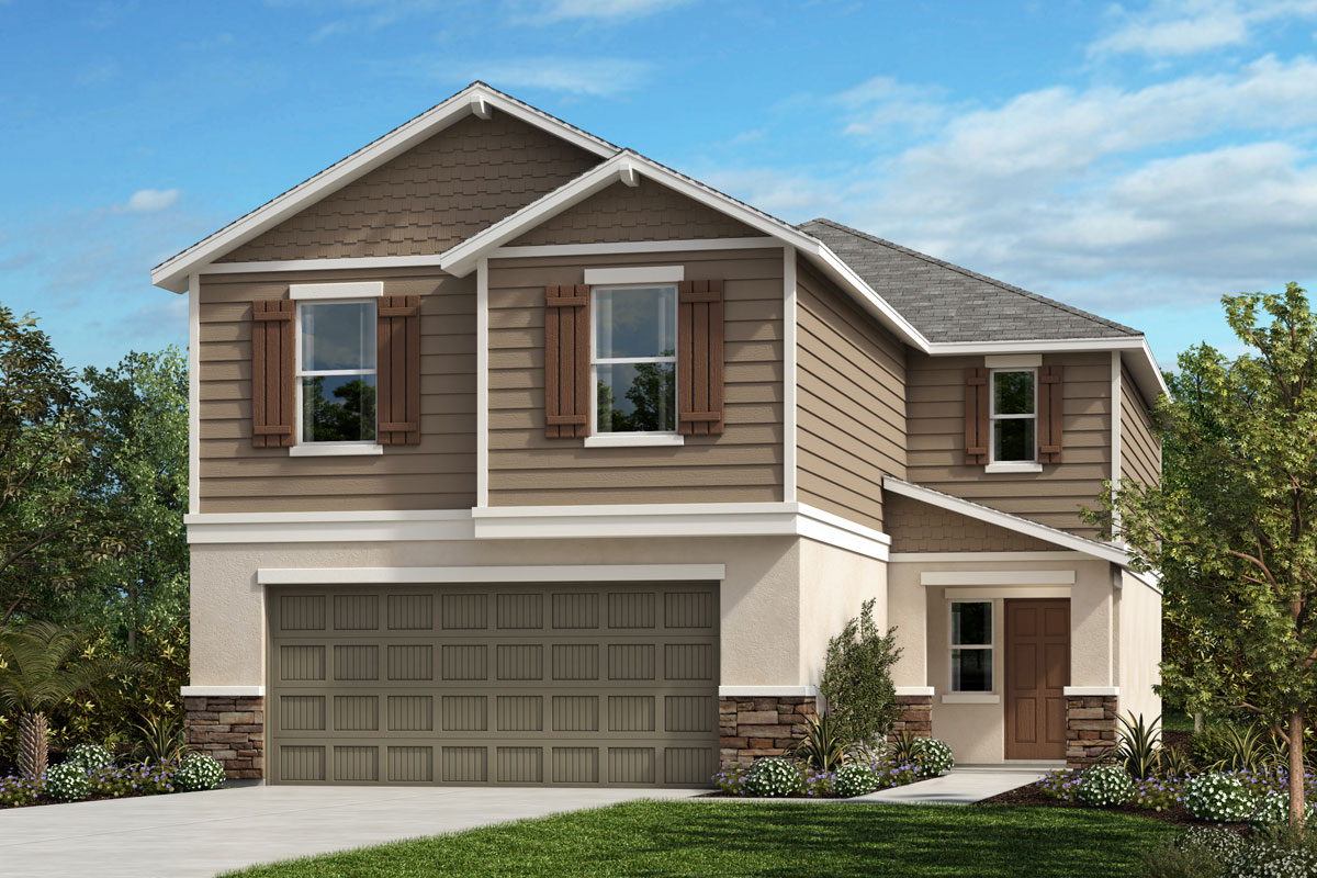 New Homes in Parrish, FL - Elevation H with Stone