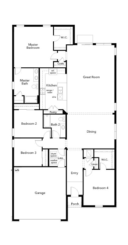 New Homes in Sarasota, FL - Plan 2333, First Floor