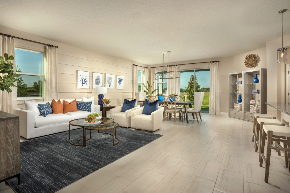 New Homes in Sarasota, FL - Grady Pointe Plan 1989 Great Room