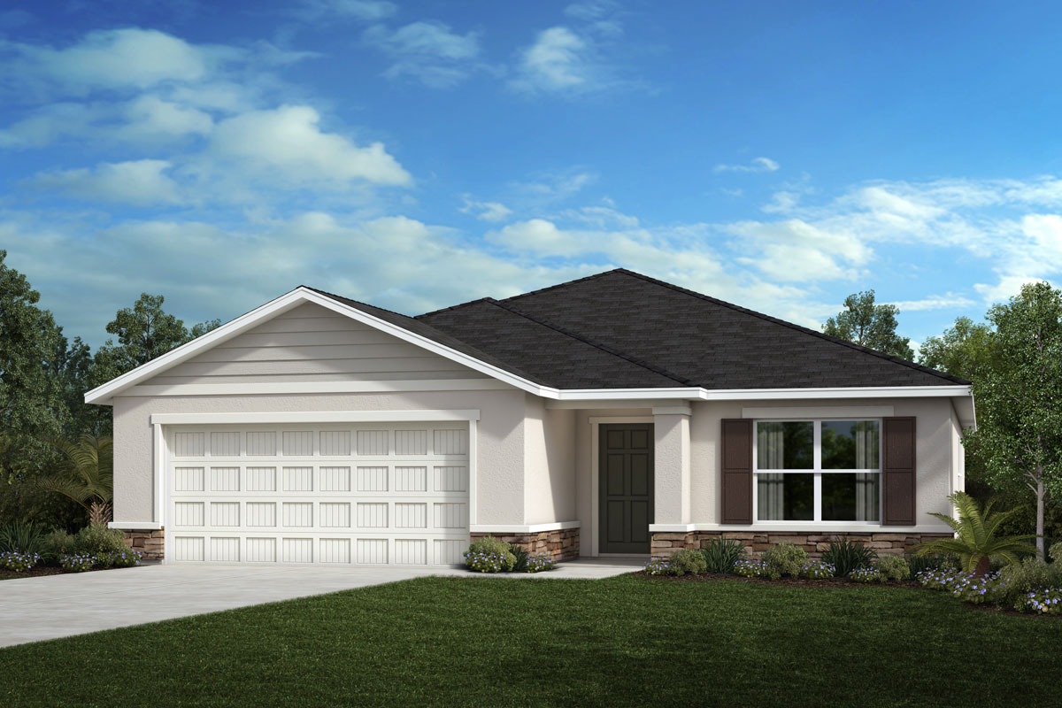 New Homes in Sarasota, FL - Elevation F with stone