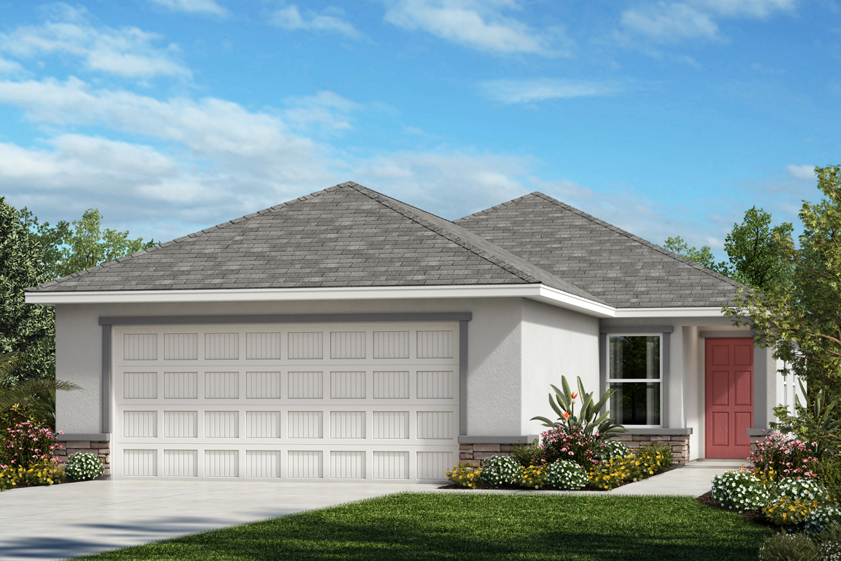 New Homes in Palmetto, FL - Elevation A with Stone