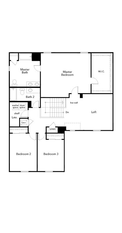 New Homes in Hudson, FL - Plan 2545, Second Floor