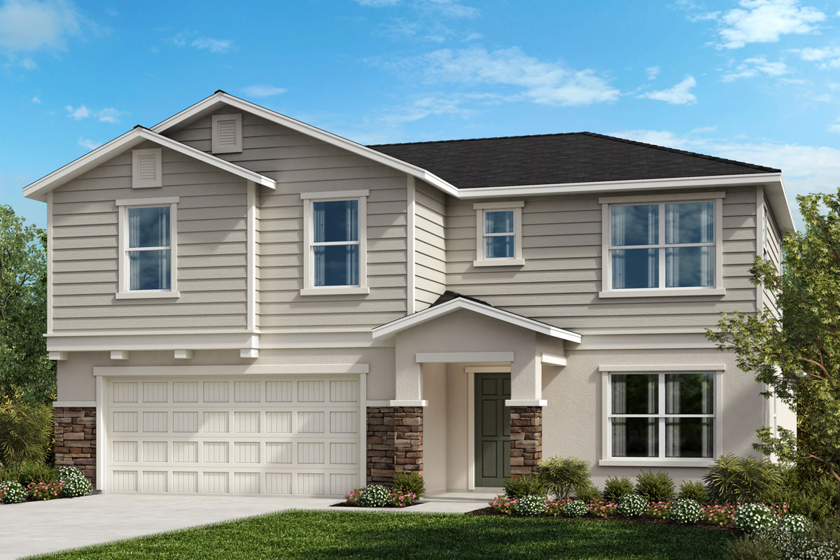 New Homes in Riverview, FL - Elevation F with Stone