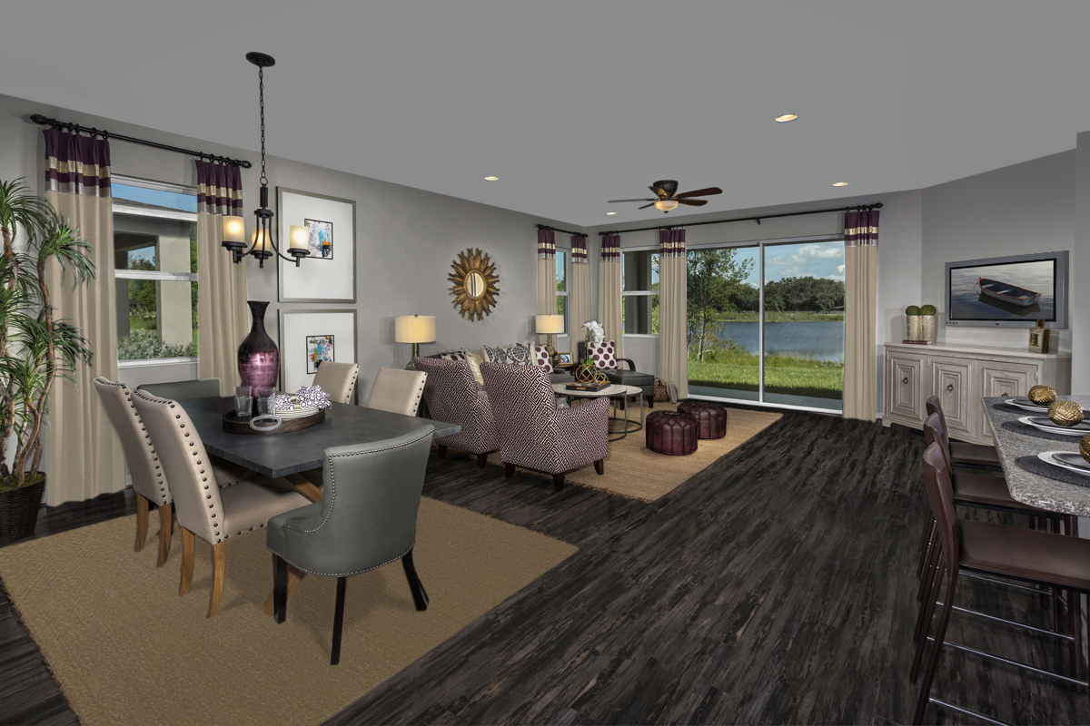 New Homes in Riverview, FL - Medford Lakes II Plan 2003 Great Room