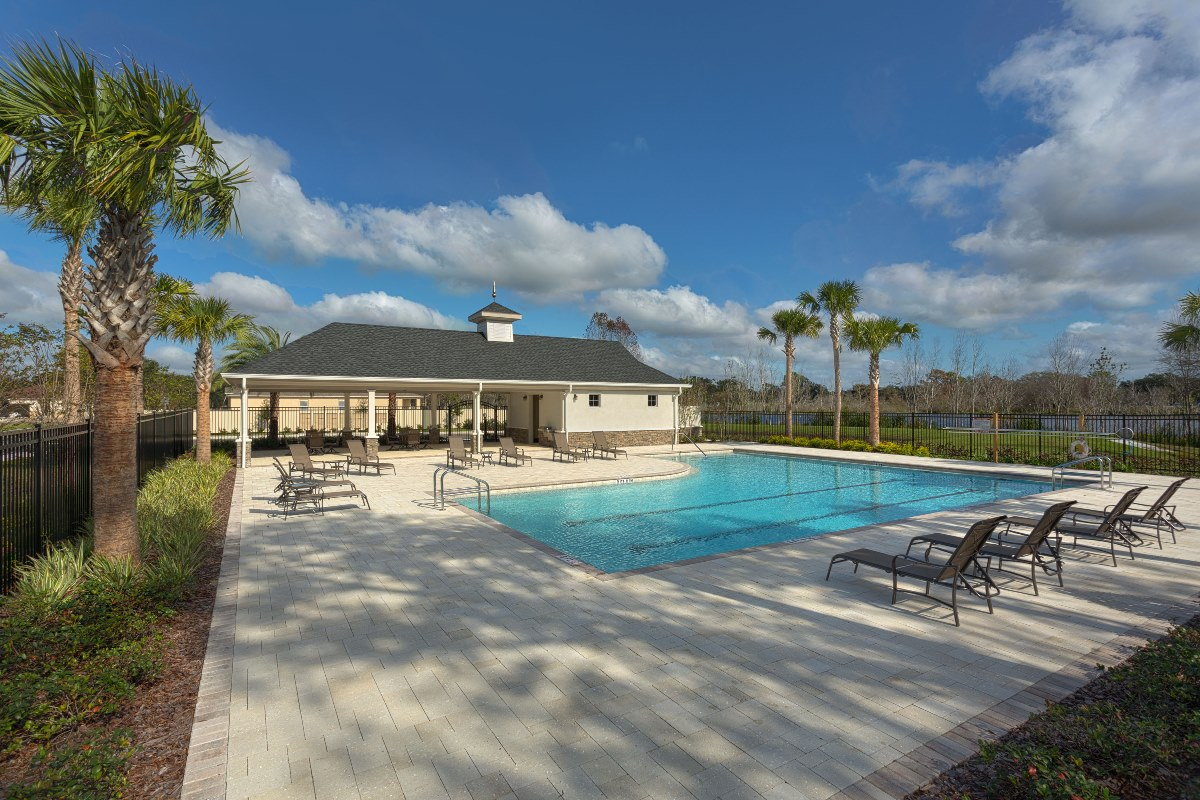 New Homes in Riverview, FL - Medford Lakes II Community Pool and Cabana