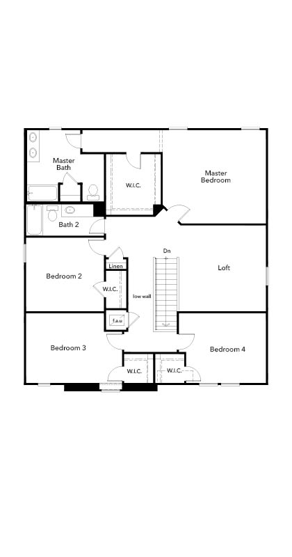 New Homes in Seffner, FL - Plan 2716, Second Floor