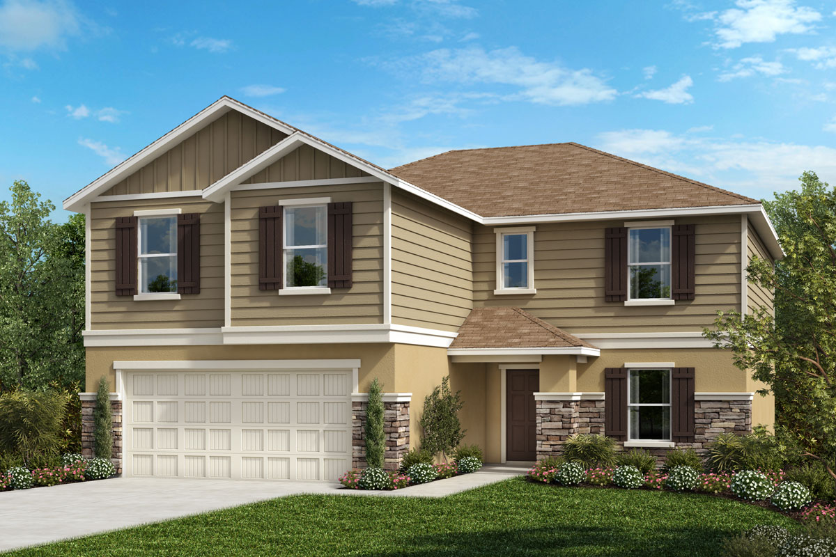 New Homes in Seffner, FL - 2545 Plan Elevation G with Stone