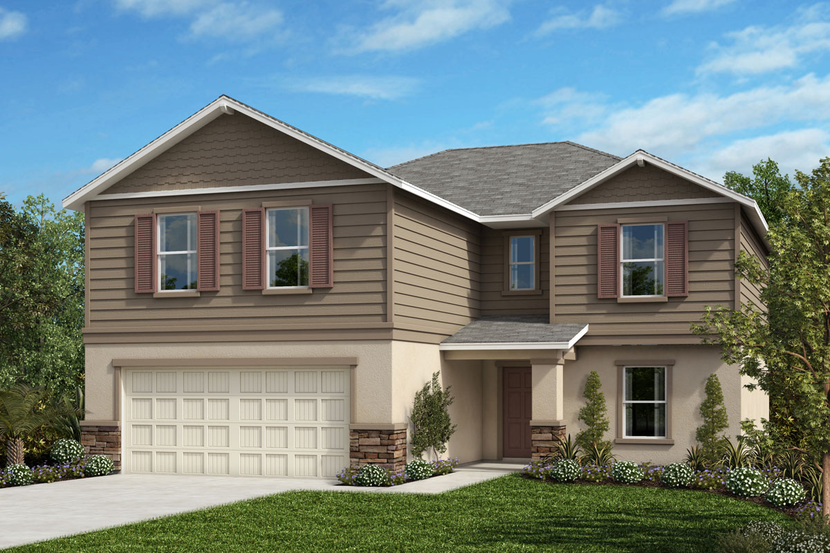 New Homes in Seffner, FL - 2545 Plan Elevation H with Stone
