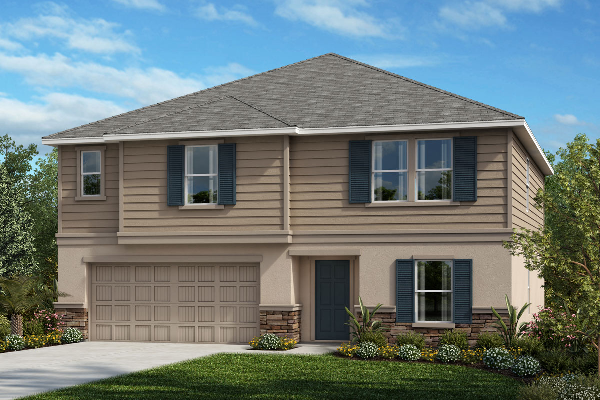 New Homes in Seffner, FL - 2716 Plan Elevation E with Stone