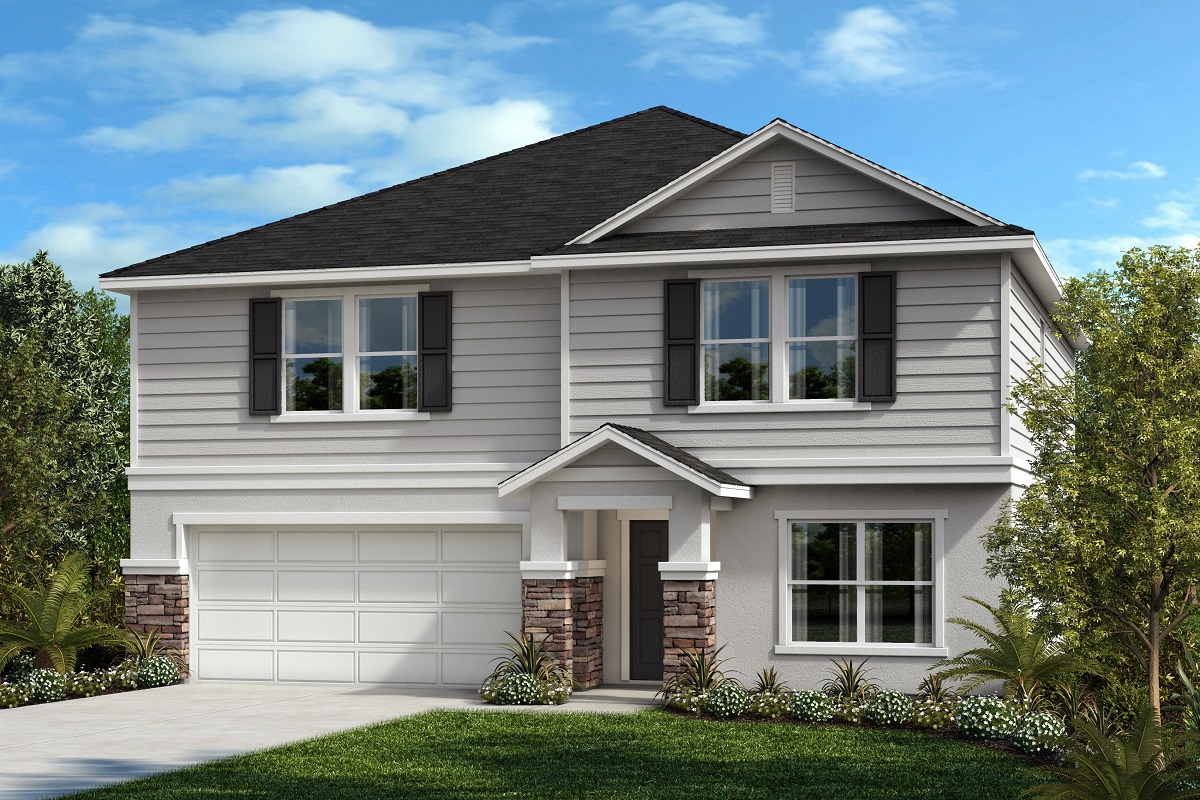 New Homes in Seffner, FL - 2716 Plan Elevation F with Stone