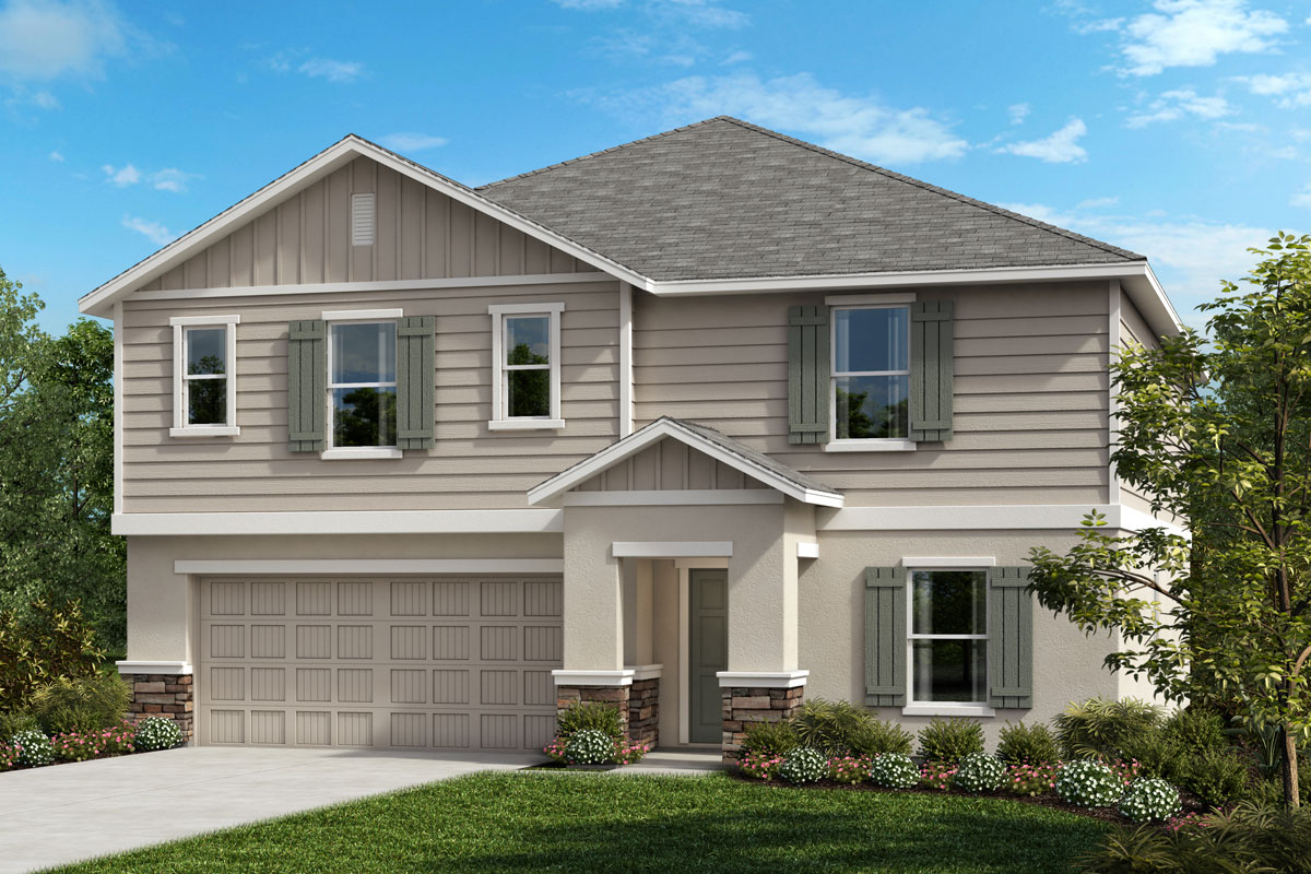 New Homes in Seffner, FL - 2716 Plan Elevation G with Stone