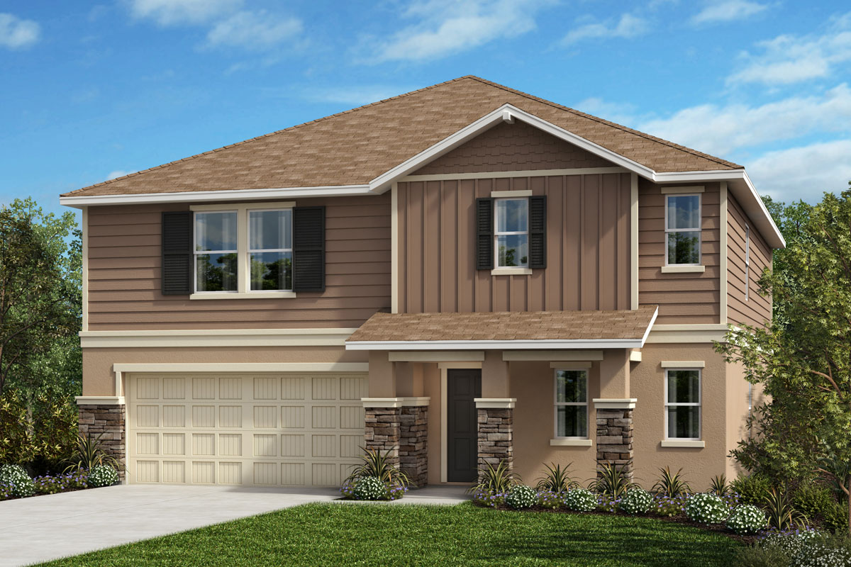 New Homes in Seffner, FL - 2716 Plan Elevation H with Stone