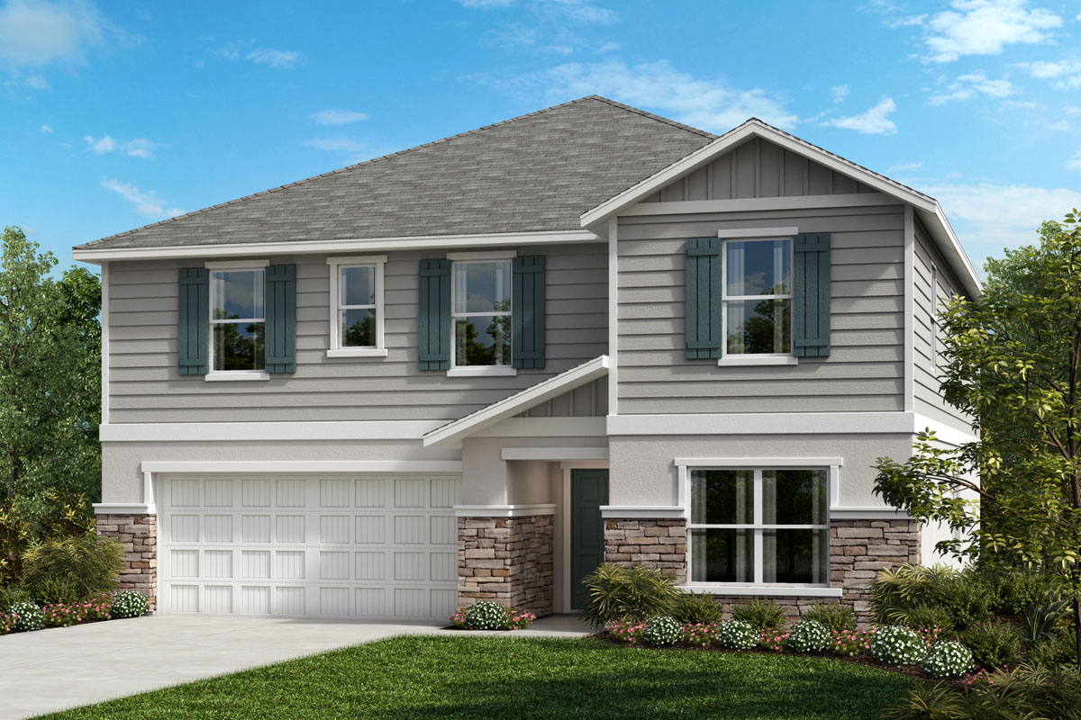 New Homes in Seffner, FL - 3016 Plan Elevation G with Stone