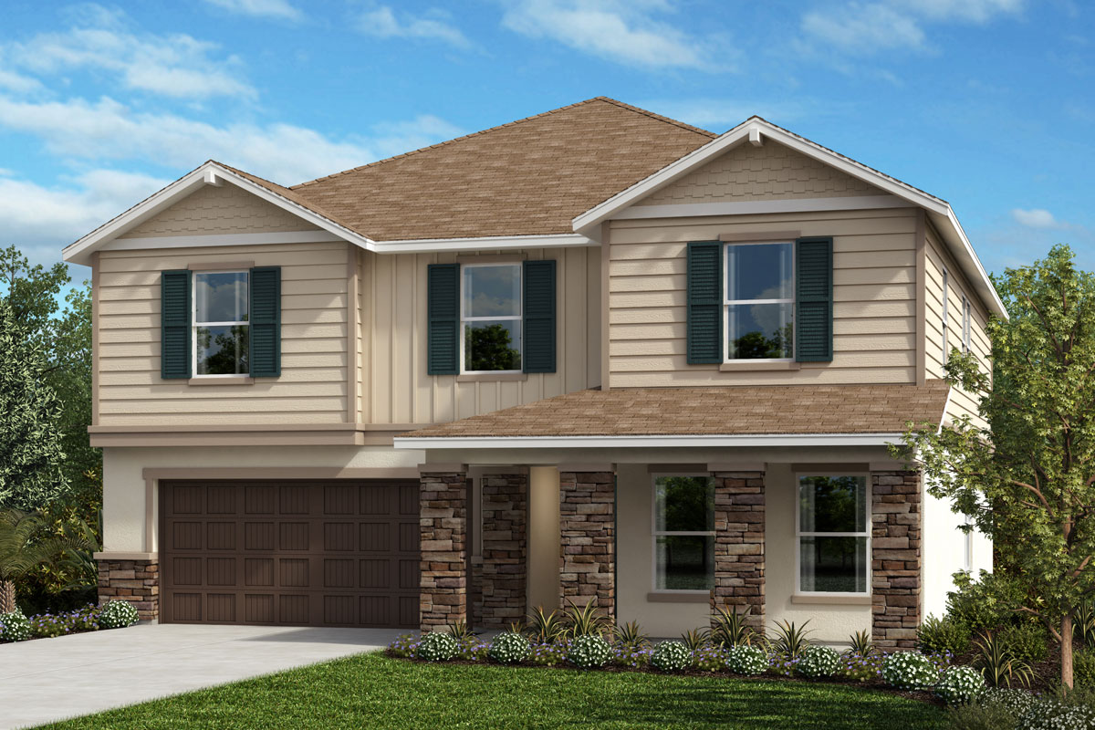 New Homes in Seffner, FL - 3016 Plan Elevation H with Stone