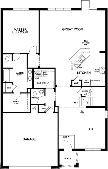 New Homes in Riverview, FL - Plan 2852, Standard