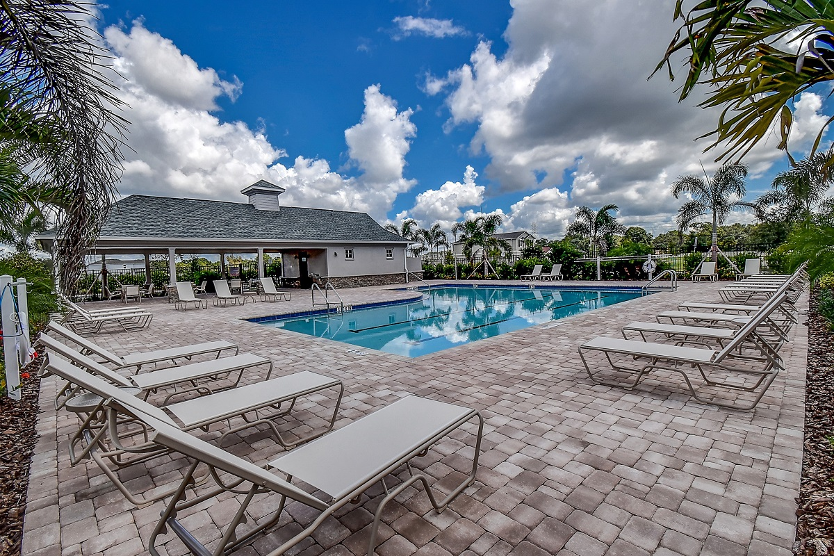 New Homes in Gibsonton, FL - Northgate Community Cabana and Pool
