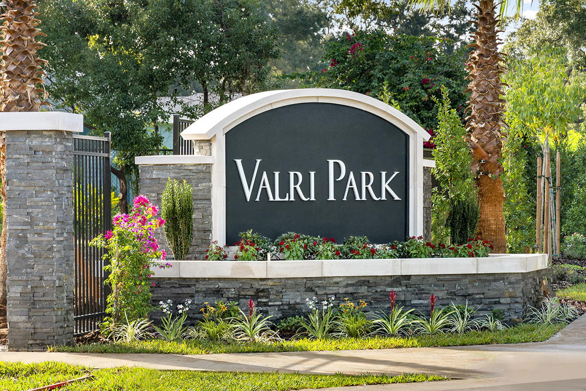 New Homes in Valrico, FL - Valri Park Valri Park Entrance Monument