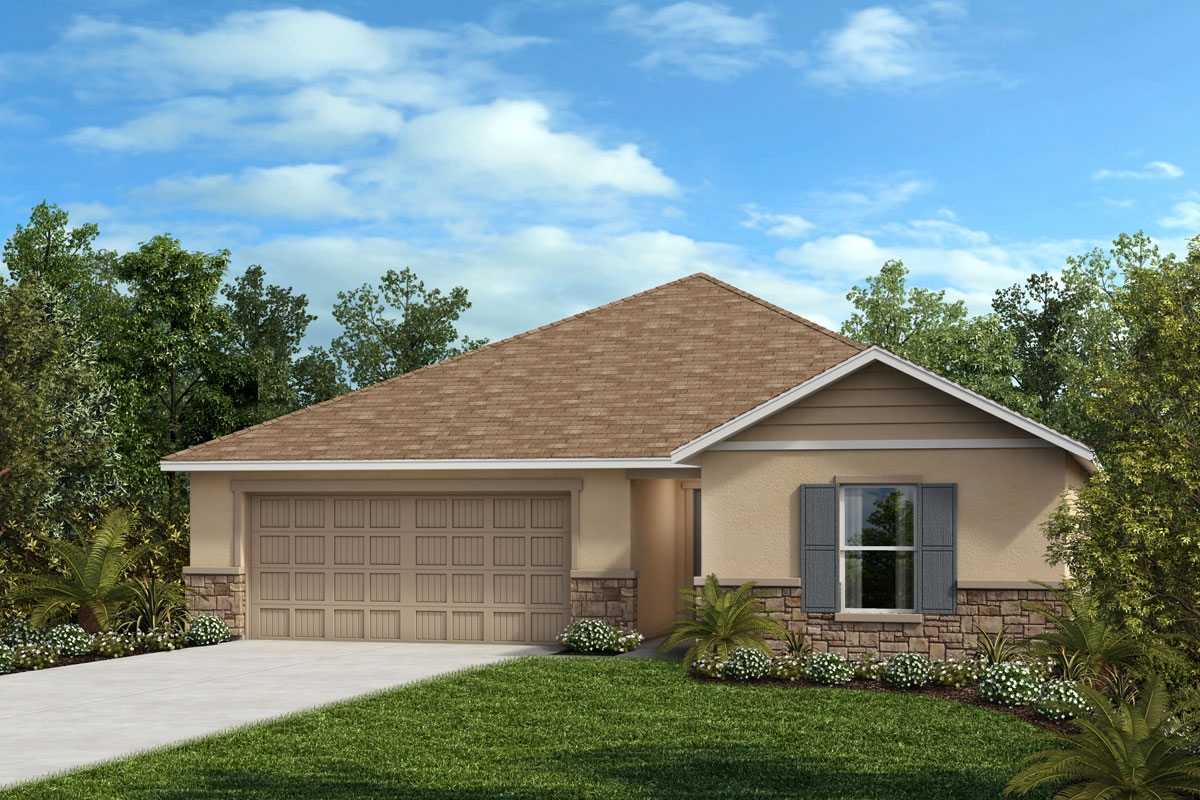 New Homes in Valrico, FL - 1541 Plan Elevation F with Stone