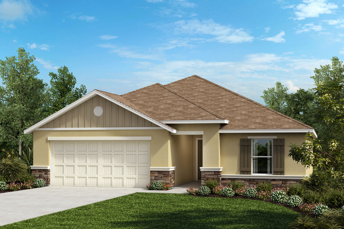 New Homes in Valrico, FL - 1707 Plan Elevation G with Stone