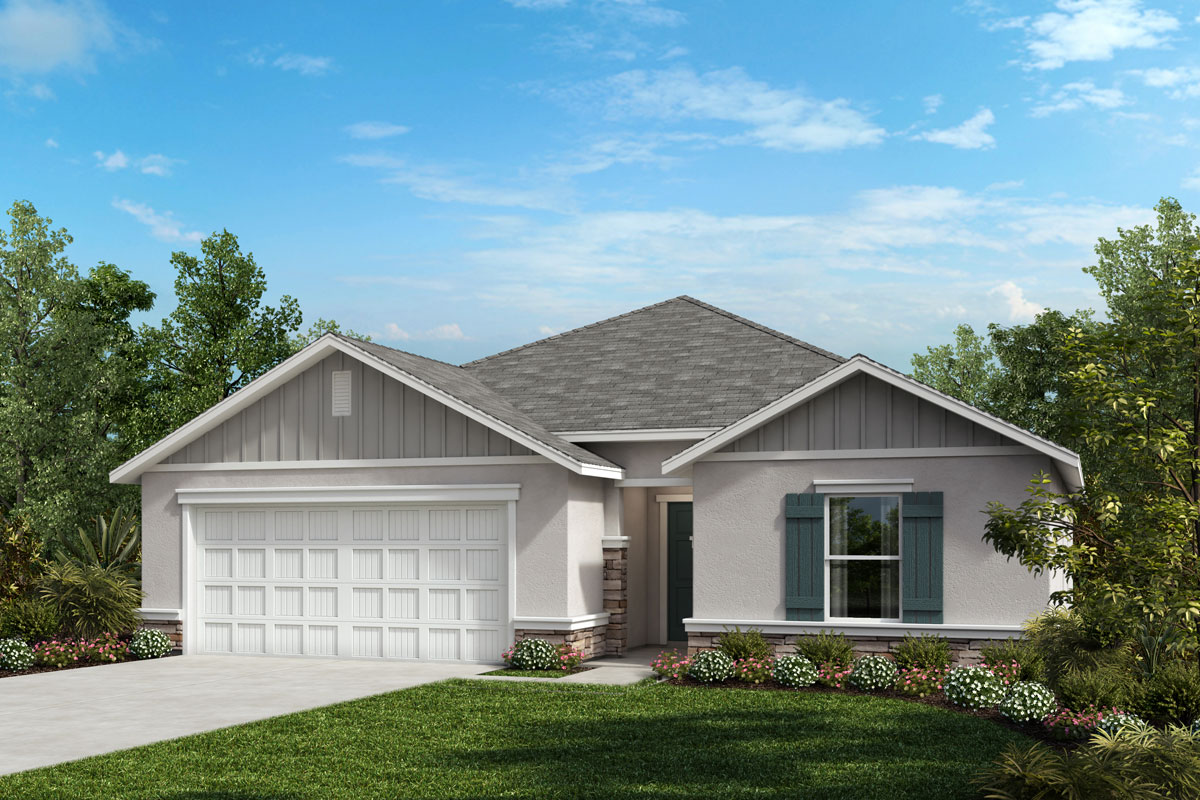 New Homes in Valrico, FL - 1989 Plan Elevation G with Stone