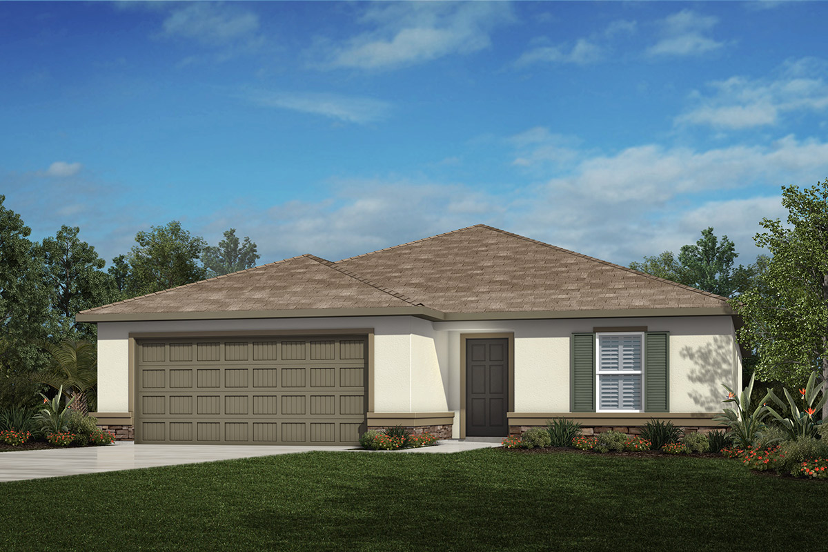 New Homes in Valrico, FL - 2333 Plan Elevation A with Stone