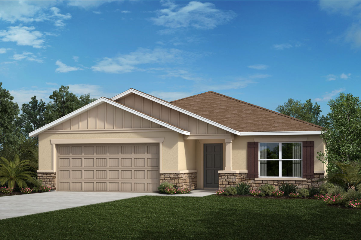 New Homes in Valrico, FL - 2333 Plan Elevation G with Stone