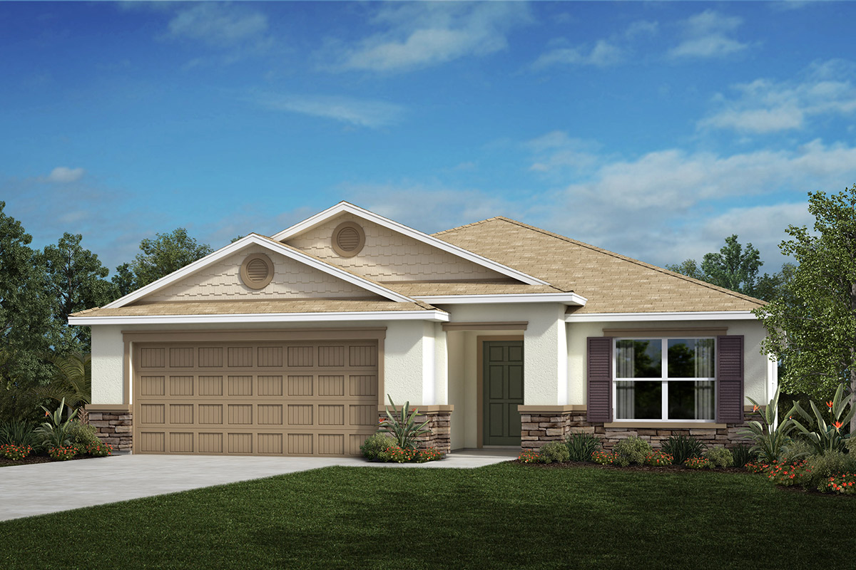 New Homes in Valrico, FL - 2333 Plan Elevation H with Stone