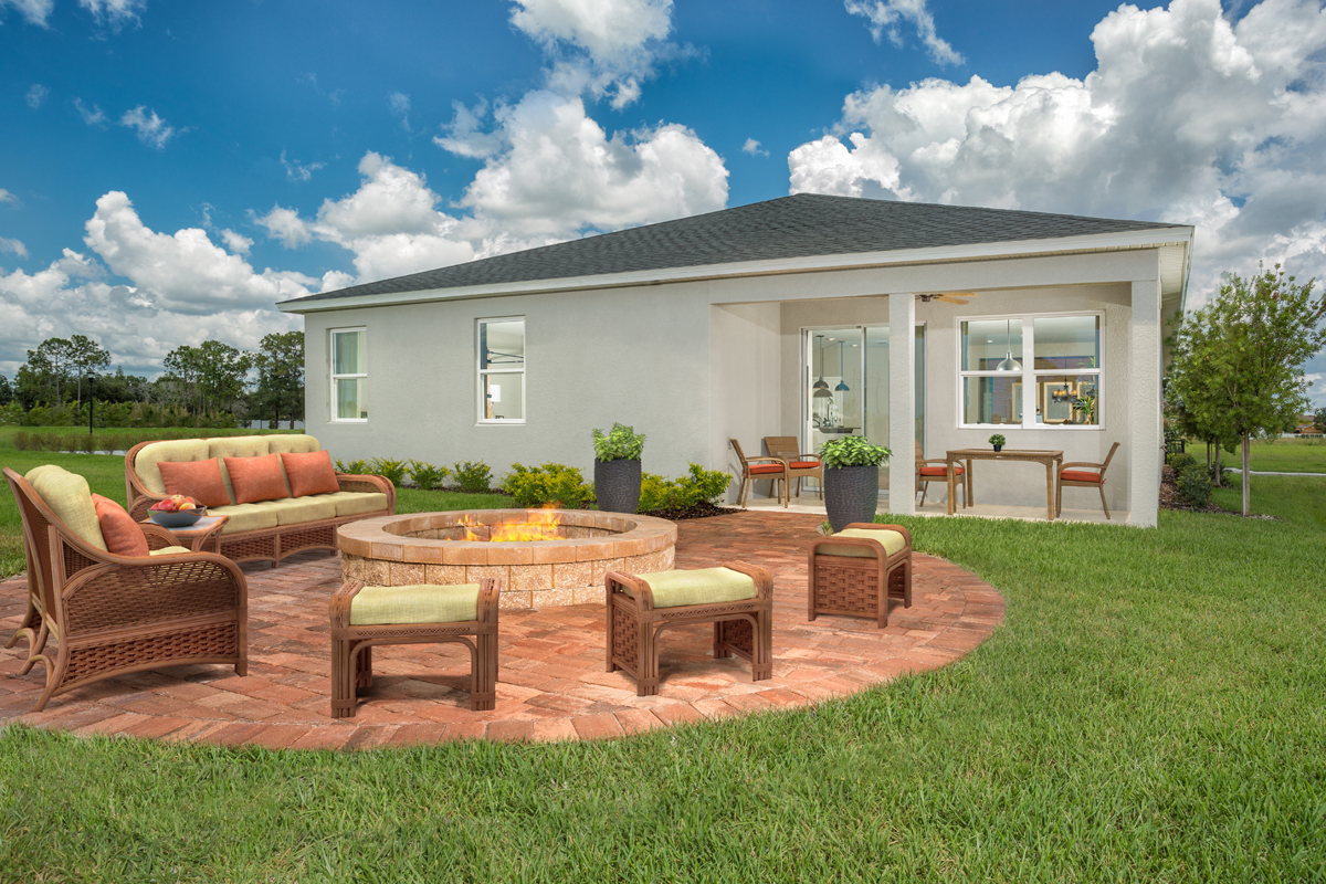 KB model home Rear Patio in Tampa, FL